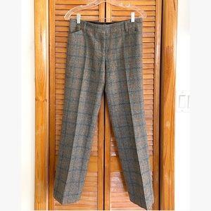 J. Crew Italian Wool Gray Plaid Check Slim Pants